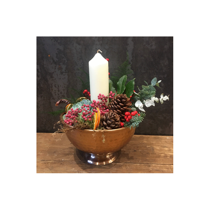 Festive Bowl Arrangement